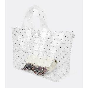 Zara clear studded handbag